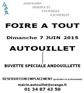 Foire a tout Autouillet 07 juin 2015