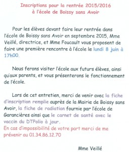 Info Ecole 12 mai 2015