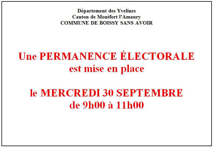 Permanence electorale 2015