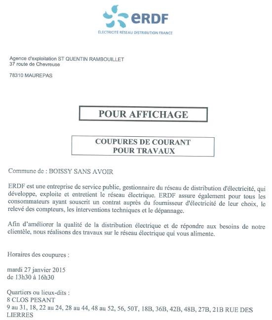 ERDF Coupure 27-01-2015