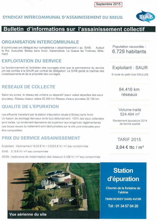 Info SIAB Septembre 2015
